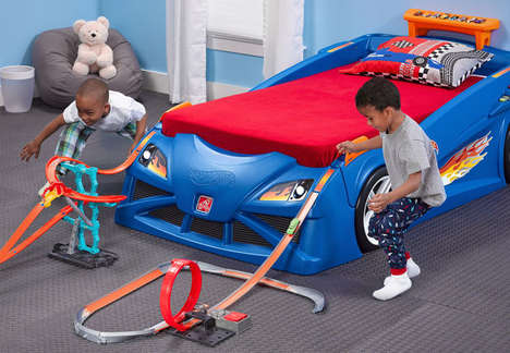 Interactive Race Car Beds - This Hot Wheels Race Car Bed Has a Built-in Toy Car Track
