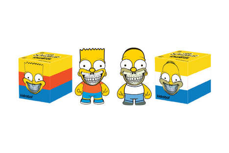 Iconic Cartoon Vinyl Figurines - This Line of Toys from Kidrobot Features The Simpsons Characters