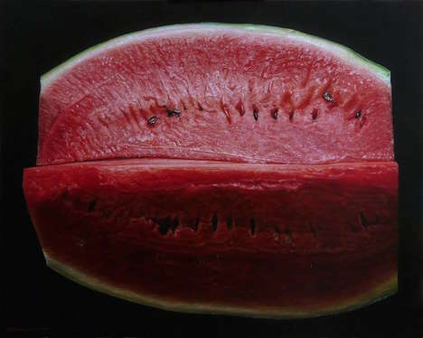 Photorealistic Fruit Paintings - These Hyperrealistic Paintings Play Tricks on the Eyes