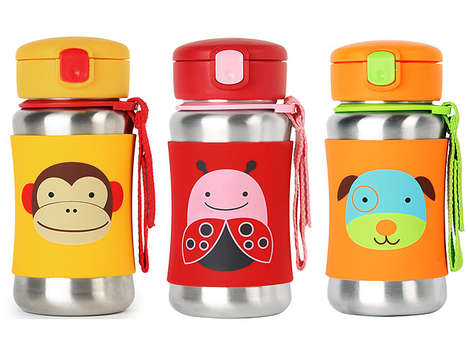 Animal-Inspired Water Bottles - These Adorable Drink Containers Feature a No-Slip Silicone Sleeve