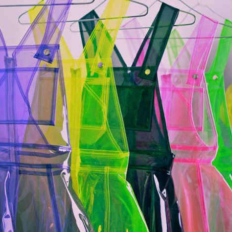 PVC Dress Collections - Pop Gallery's Transparent Garments are Made With Flexible Plastic