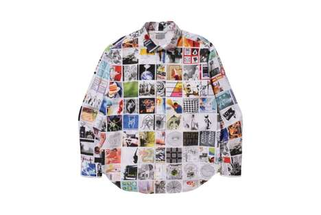 Artistic Collage Shirts - The 'C.E MD-Research' Shirt Features Various Artwork by Matt Damhave
