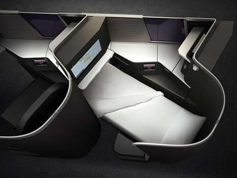 Flat-Comfort Airplane Seats - The Virgin Australia Airline Unveiled Super Comfortable Business Seats