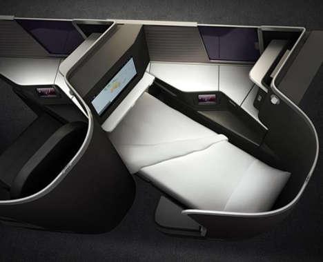 Flat-Comfort Airplane Seats