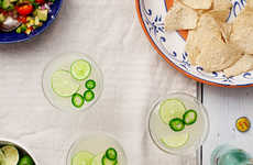 Piquant Jalapeno Margaritas - These Spicy Cocktails Up the Heat with Fiery Peppers and Orange Juice