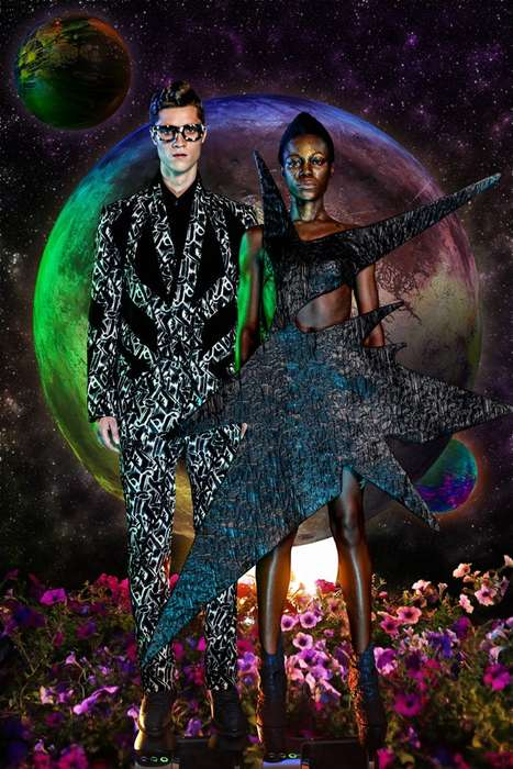 Galactic Fashion Catalogs - Long Tran's Futuristic Clothing Collection is Inspired by Space Travel