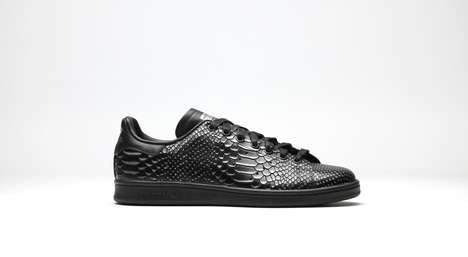 Textured Reptilian Sneakers - The 'Stan Smith' Sneaker by adidas Gets a Reptilian Print Makeover
