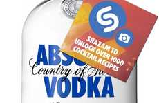 Visual Vodka-Recognition Apps - Select Absolut Vodka Bottles Feature Shazam to Unlock New Content