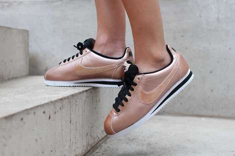 Shimmery Sneaker Makeovers - The Nike Cortez Metallic Bronze is a Feminine Take on a Classic Sneaker