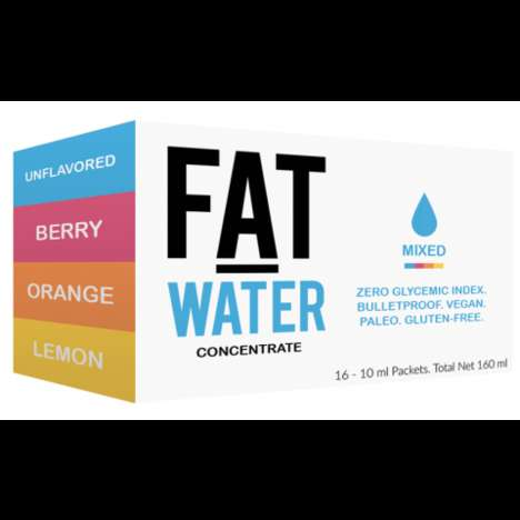Fat-Infused Waters - The FATwater Infused Drinks Provide Energy Through High-Quality Fats