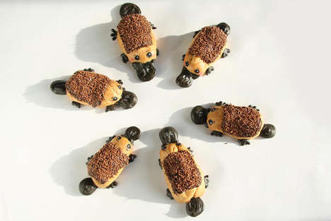 Chocolatey Platypus Eclairs - These Delicious Chocolate Pastries are Decorated to Look Like Animals