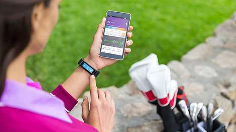 Golf-Centric Wristbands - The Microsoft Band Wearable Features Post-Golfing Support