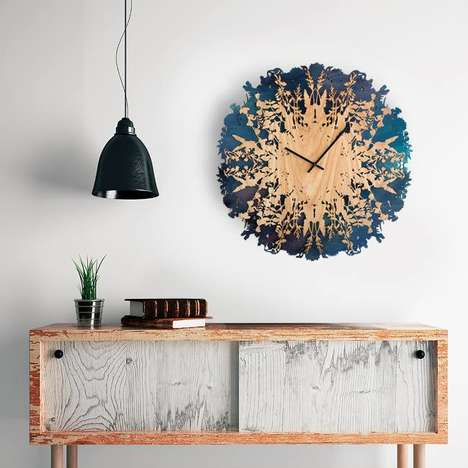 Nature-Themed Timekeepers - Svetlana Mikhailova's Artistic Clock Boasts Botanical Accents