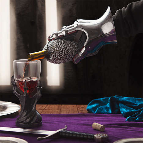 Chainmail Wine Bags - This Elegant Bottle Bag Turns Your Wine into an Armoured Knight