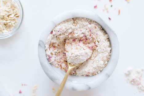 DIY Soothing Skin Treatments - This Homemade Face Mask Contains Oatmeal and Rose Ingredients