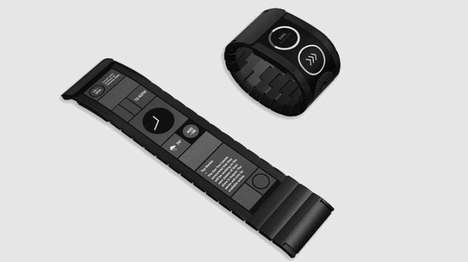 Flexible Touchscreen Wristbands - The Wove Band is the World's First Flexible Touch Display Wearable