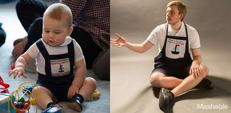 Royal Baby-Inspired Portraits - One Man Recreated Prince George Outfits Wearing Royal Baby Clothes