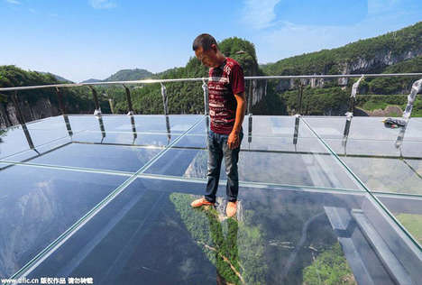 Dizzying Aerial Walkways - This Transparent Cliff Walkway is Asia's Largest Glass Viewing Platform