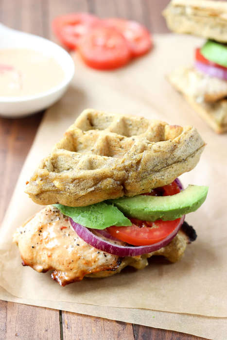 Paleo Waffle Sandwiches - This Sandwich Supplies a Savory Take on National Waffle Day