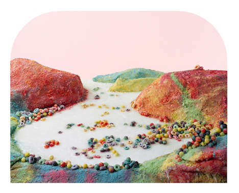 Landscape Food Art - These Photographs Display Famous American Landscapes Made with Processed Food