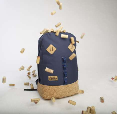 Recycled Cork Backpacks - This Durable Line of Backpacks is Made from Sustainable Materials
