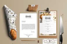 Monogrammed Bakery Branding - Kromka Polish Bakery's Brand Identity Highlights Vivid Typography