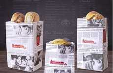 Newspaper Bread Packaging