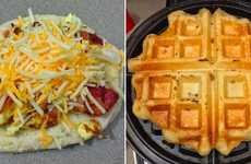 All-Inclusive Breakfast Waffles - This Stuffed Waffle Biscuit Combines Many Breakfast Favorites