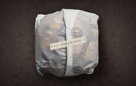 Rustic Bakery Branding - Scott Naauao's Breadshop Brand Identity Features Stamped Details