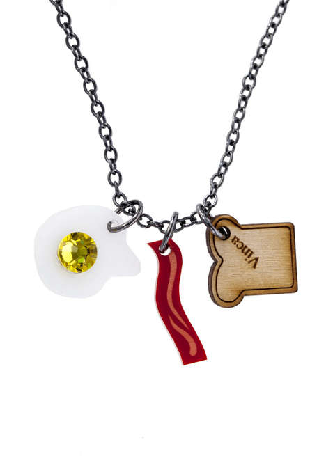Playful Breakfast Necklaces - This Adorable Statement Accessory Promotes a Healthy Fashion Lifestyle