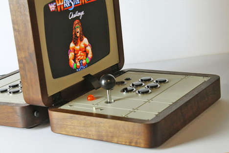 Handmade Retro Arcade Games - This Battlecade Game by Love Hulten is a Beautiful Arcade Throwback