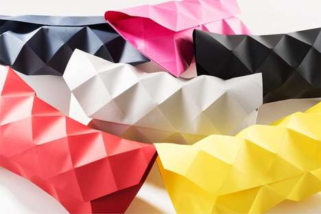 Geometric Paper Clutches - These Colorful Handbags are Made Entirely from Paper
