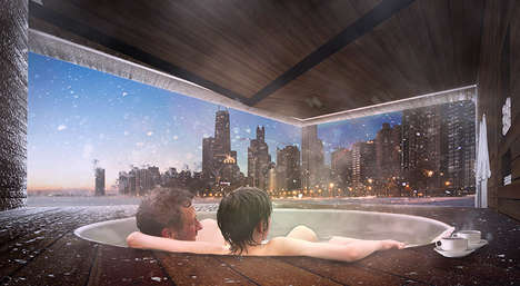 Urbanized Spa Cabins - The Urban Therme is an Outdoor Spa Cabin with a View of Chicago's Skyline
