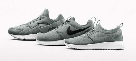 Fleece Fabric Sneakers - These Nike Shoes are Made with a Special Fleece Wool Material