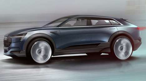 Aerosthetic SUV Concepts - The Audi e-tron SUV Concept Features a Flat, Coupe-Inspired Cabin