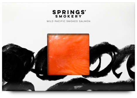 Classical Smoked Meat Branding - This British Smoked Salmon Brand Boasts Artistic Packaging