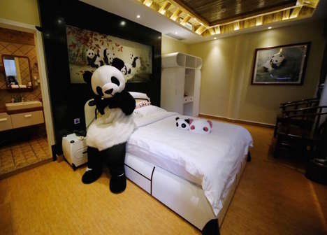 Panda-Themed Hotels - This Bizzare Chinese Hotel is Completely Inspired by Panda Bears