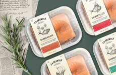 Whimsical Salmon Packaging - This Salmon Packaging Concept Adds an Elegant, Mythical Touch