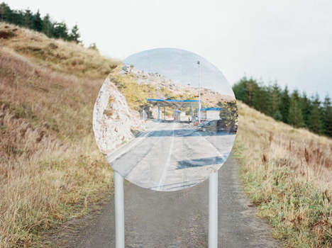 Digitized Roadway Photography - This Series Replaces UK Road Signs with Google Street View Images