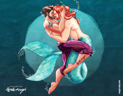 LGBT Disney Princesses - These Illustrations Feature Gay Disney Princesses in Male Forms