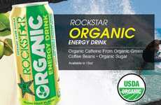 Organic Energy Beverages - Rockstar Energy Drinks Sources Caffeine Through Green Coffee Beans