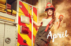 Spicy Firefighter Calendars - This Taco Bell Calendar Features 12 Fans as Pin-Up Firefighters
