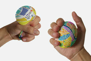 This Tiny Map Expands When Squeezed to Show Close-Up Directions