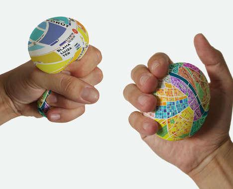 Typographic Egg Maps