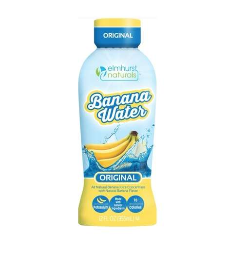 Banana-Flavored Water - Elmhurst Naturals' Banana Water is Prepared with a Fruit Concentrate