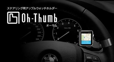 Automotive Smartwatch Mounts - The 'Oh-Thumb' Gives Drivers Smart Steering Wheel Accessories
