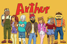 Hipster Cartoon Aardvarks