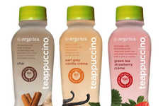 Bottled Tea Cappuccinos - The 'Teappuccino' is a New Argo Tea Drink Made with Milk and Spice Blends