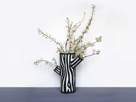Tree Trunk Vases - These Nature-Inspired Vases Brings a Little Bit of the Outdoors Inside the Home