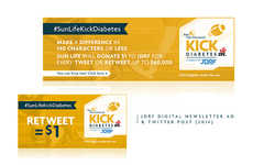 Diabetes Tweeting Campaigns - The 'Kick Diabetes' Campaign Featured Tweet-Matching Donations